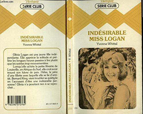Indesirable Miss Logan: Whittal, Yvonne
