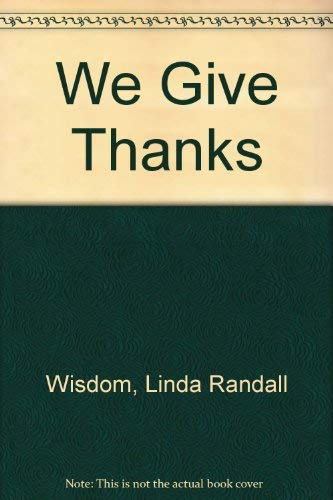 9780373575787: We Give Thanks