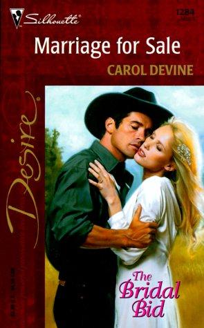 9780373762842: Marriage For Sale (The Bridal Bid) (Silhouette Desire, No. 1284)