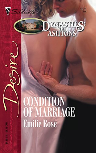 9780373766758: Condition Of Marriage (Silhouette Desire)