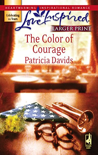 9780373813230: The Color of Courage (Mounted Color Guard Series #1) (Larger Print Love Inspired #409)
