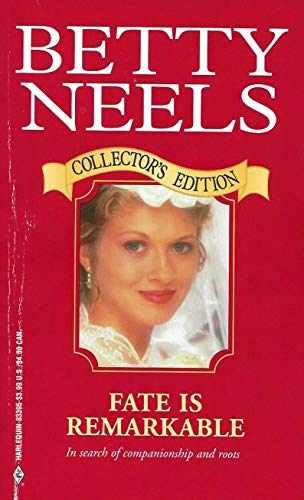 9780373833955: Fate Is Remarkable (Harlequin Romance, 1498)