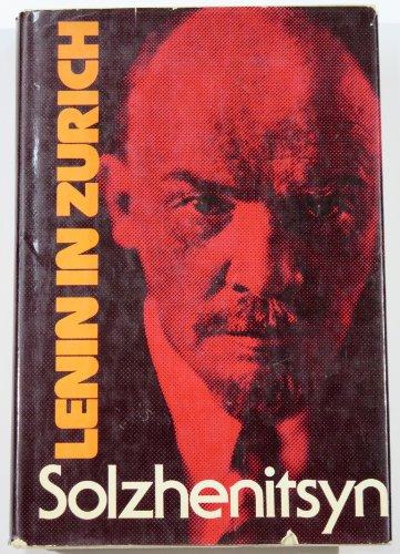 9780374018504: LENIN IN ZURICH