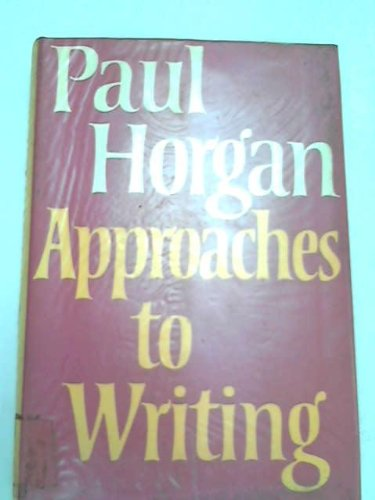 9780374105693: Approaches to Writing