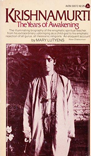 9780374182229: Krishnamurti: The years of awakening
