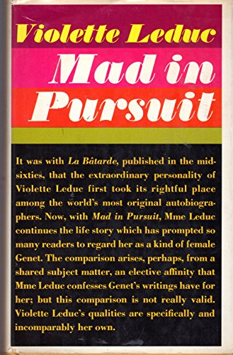 MAD IN PURSUIT: Leduc, Violette