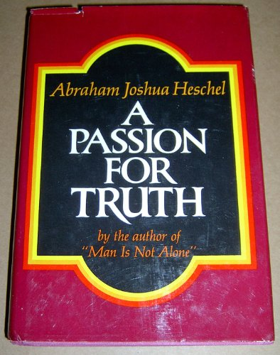 9780374229924: A passion for truth