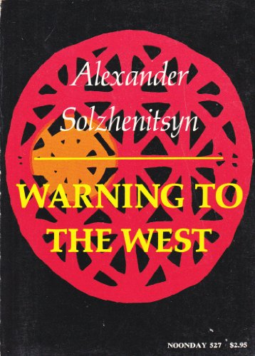 9780374267582: Warning to the West