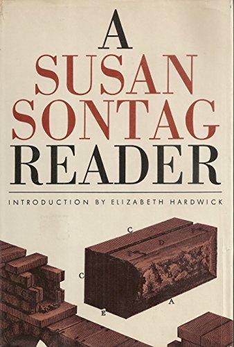 A Susan Sontag Reader: Susan Sontag