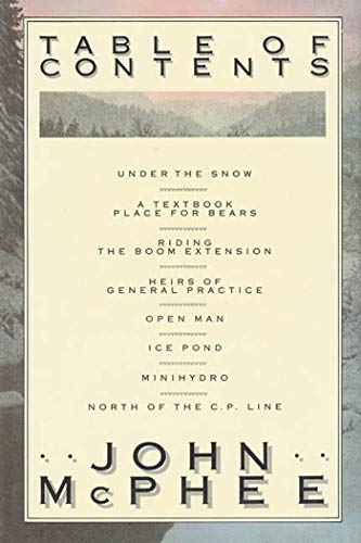 Table of Contents: John McPhee