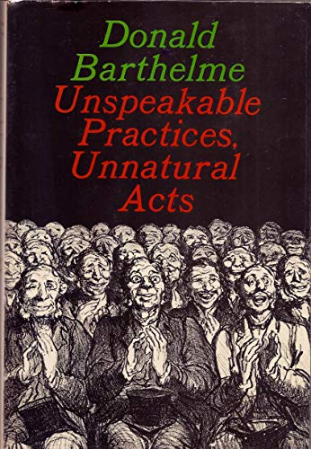 9780374281762: Unspeakable Practices, Unnatural Acts