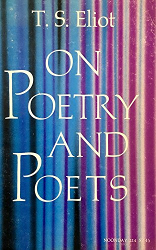 9780374501853: Title: On Poetry and Poets