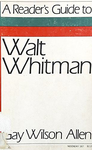 9780374507763: Reader's Guide to Walt Whitman