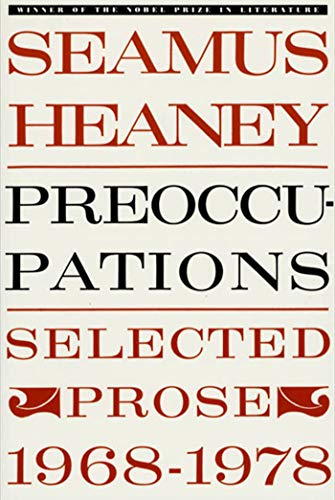 9780374516505: Preoccupations: Selected Prose, 1968-1978