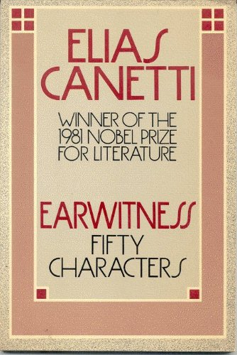 9780374518929: Earwitness: Fifty Characters (English and German Edition)