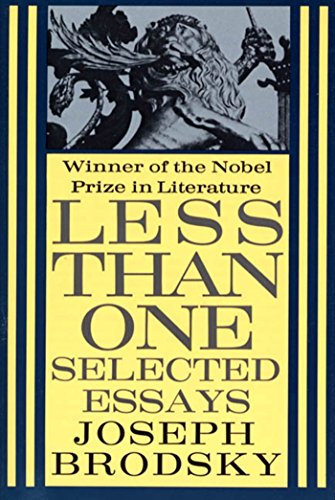 9780374520557: Less Than One: Selected Essays