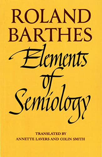 9780374521462: Elements of Semiology