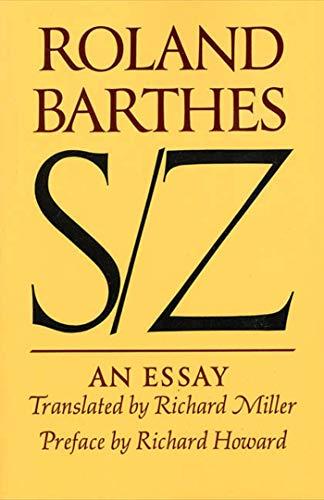 9780374521677: S/Z: An Essay