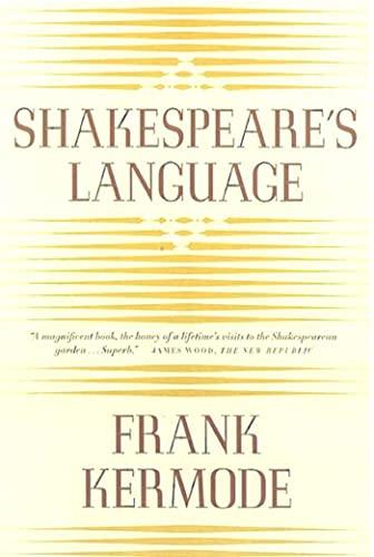 9780374527747: Shakespeare's Language