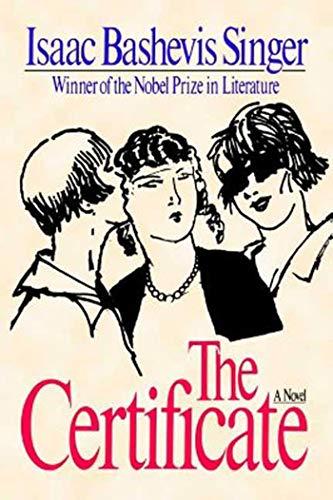 9780374529345: The Certificate: A Novel