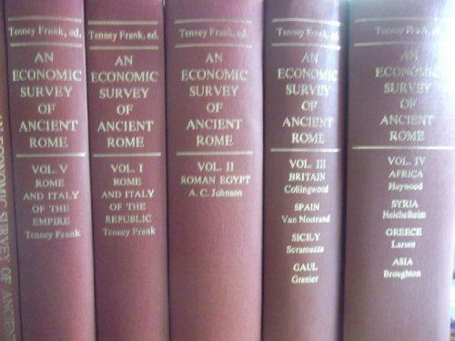 9780374928483: An Economic Survey of Ancient Rome