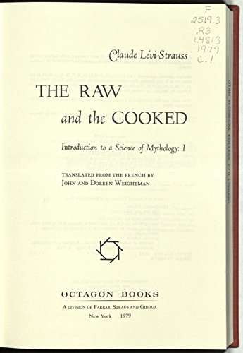 9780374949532: The Raw and the Cooked
