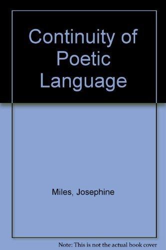 Continuity of Poetic Language: Josephine Miles