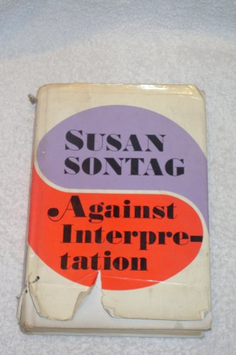 9780374975142: Against Interpretation: And Other Essays