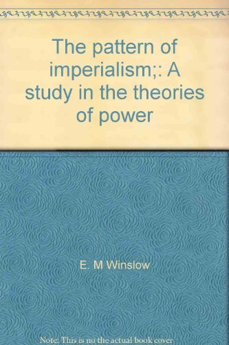 The Pattern of Imperialism: A Study in: Winslow, Earle Micajah