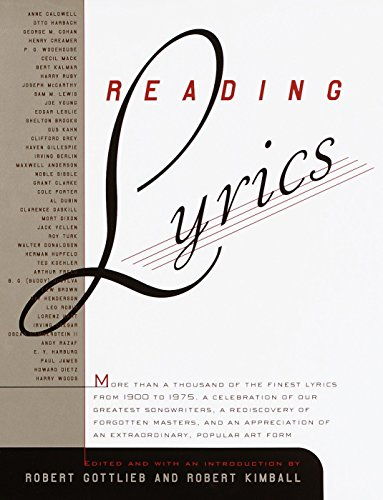 Reading Lyrics: More Than a Thousand of: Robert Gottlieb