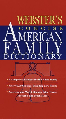 9780375405075: Webster's Concise American Family Dictionary