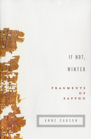 9780375410673: If Not, Winter: Fragments of Sappho (English and Greek Edition)