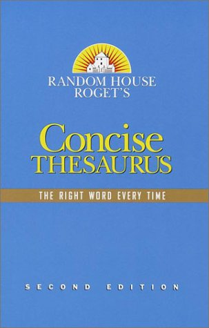 9780375425646: Random House Roget's Concise Thesaurus: Second Edition
