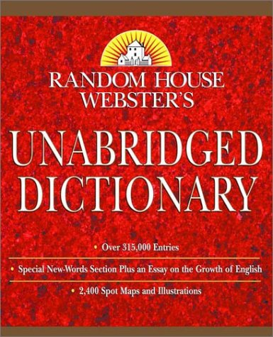 9780375425660: Random House Webster's Unabridged Dictionary: Indexed (Book Only Edition)