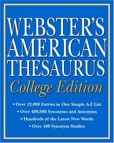9780375425950: Webster's American Thesaurus, College Edition