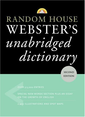 Random House Webster's Unabridged Dictionary, Second Edition (9780375425998) by Random House