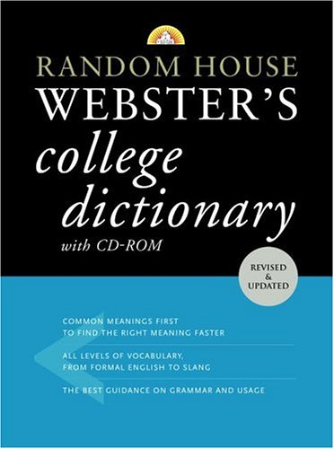 9780375426001: Random House Webster's College Dictionary with CD-ROM (Random House Webster's College Dictionary (W/CD))