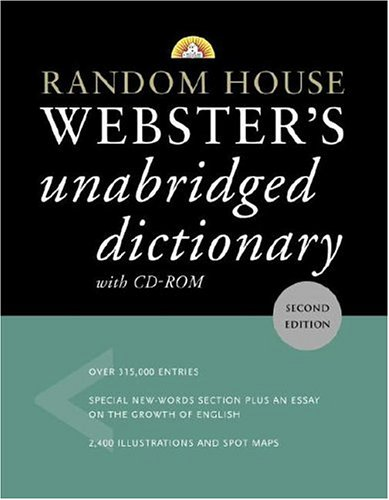 9780375426094: Random House Webster's Unabridged Dictionary with CD-ROM (Random House Webster's Unabridged Dictionary (W/CD))