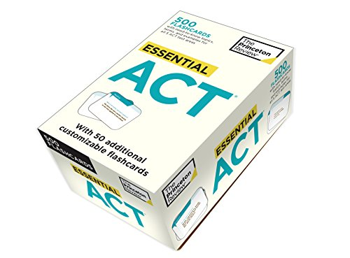 9780375428067: Essential ACT (flashcards): 500 Flashcards with Need-To-Know Topics, Terms, and Examples for All Five ACT Test Areas (College Test Preparation)
