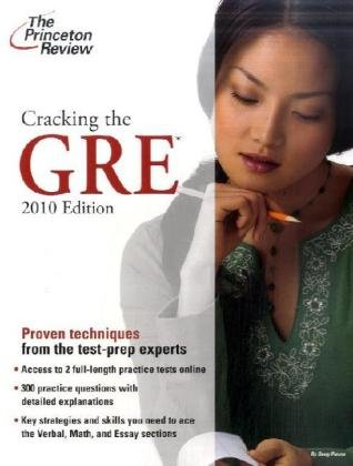 9780375428630: Cracking the GRE, 2009 Edition (Graduate School Test Preparation)