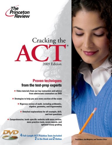 9780375429002: Cracking the ACT with DVD, 2009 Edition (College Test Preparation)
