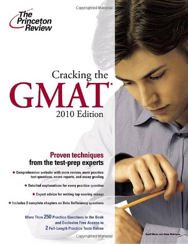 9780375429255: Cracking the GMAT, 2010 Edition (Graduate School Test Preparation)