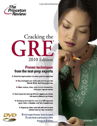 9780375429330: Cracking the GRE with DVD, 2010 Edition (Graduate School Test Preparation)