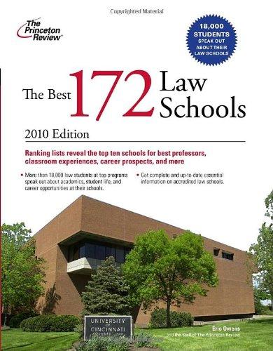 9780375429583: The Best 172 Law Schools (Graduate School