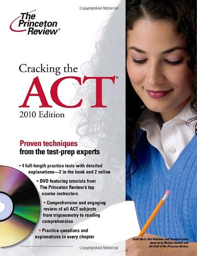 9780375429606: Cracking the ACT with DVD, 2010 Edition (College Test Preparation)