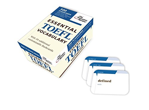 9780375429668: Essential TOEFL Vocabulary (flashcards): 500 Flashcards with Need-to-Know TOEFL Words, Definitions, Pronunciations, and Terms in Context (College Test Preparation)
