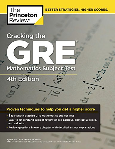 9780375429729: Cracking the GRE Mathematics Subject Test, 4th Edition