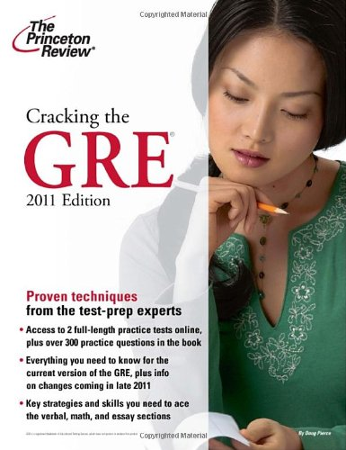 9780375429774: Cracking the GRE, 2011 Edition (Graduate School Test Preparation)