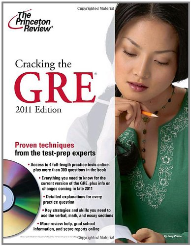 9780375429781: Cracking the GRE with DVD, 2011 Edition (Graduate School Test Preparation)