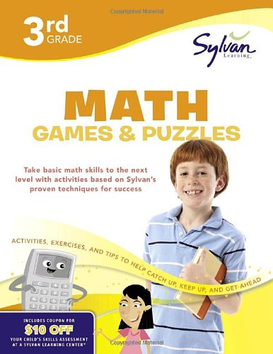 9780375430404: Third Grade Math Games & Puzzles (Sylvan Workbooks) (Sylvan Math Workbooks)